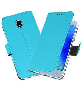 Blauw Wallet Cases Hoesje voor Samsung Galaxy J3 2018