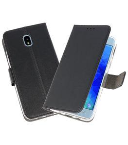 Zwart Wallet Cases Hoesje voor Samsung Galaxy J3 2018