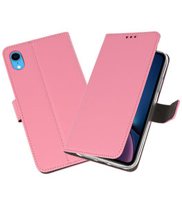 Roze Wallet Cases Hoesje voor iPhone XR
