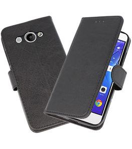 Zwart Bookstyle Wallet Cases Hoesje voor Huawei Y3 2018