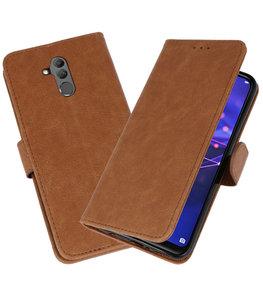 Wallet Cases Hoesje voor Huawei  Mate 20 Lite Bruin