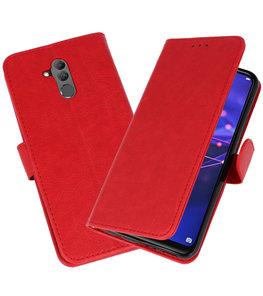 Wallet Cases Hoesje voor Huawei  Mate 20 Lite Rood
