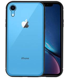 Magnetic Back Cover voor iPhone XR Zwart - Transparant