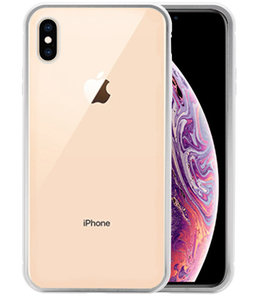 Magnetic Back Cover voor iPhone XS Max Zilver - Transparant