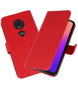 Bookstyle Wallet Cases Hoesje voor Moto G7 Rood