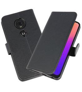 Bookstyle Wallet Cases Hoesje voor Moto G7 Zwart