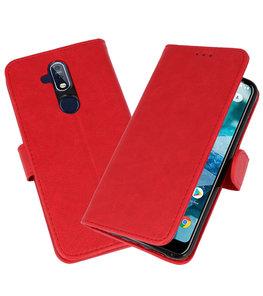 Bookstyle Wallet Cases Hoesje voor Nokia 8.1 / X7 Rood