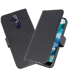 Bookstyle Wallet Cases Hoesje voor Nokia 8.1 Zwart
