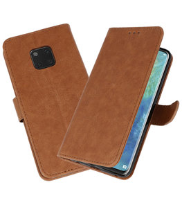 Bookstyle Wallet Cases Hoesje voor Huawei  Mate 20 Pro Bruin