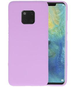 Color TPU Hoesje voor Huawei Mate 20 Pro Paars