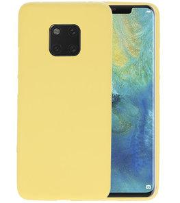Color TPU Hoesje voor Huawei Mate 20 Pro Geel