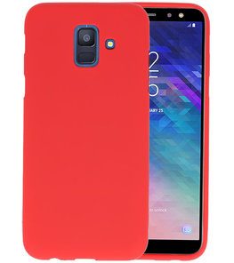 Color TPU Hoesje voor Samsung Galaxy A6 2018 Rood