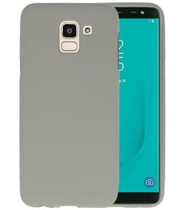 Color TPU Hoesje voor Samsung Galaxy J6 Grijs