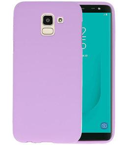 Color TPU Hoesje voor Samsung Galaxy J6 Paars