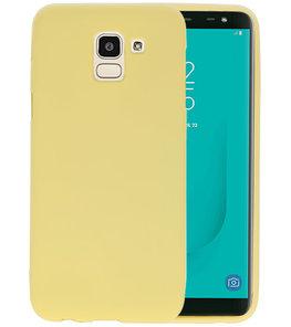 Color TPU Hoesje voor Samsung Galaxy J6 Geel