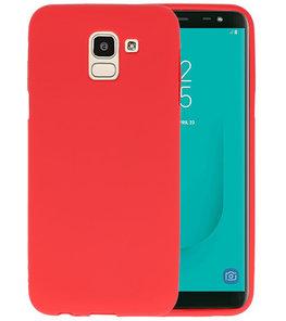 Color TPU Hoesje voor Samsung Galaxy J6 Rood