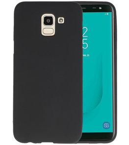 Color TPU Hoesje voor Samsung Galaxy J6 Zwart