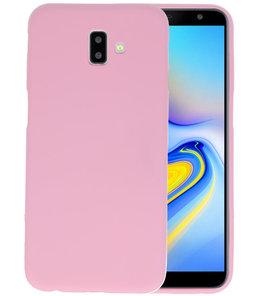 Color TPU Hoesje voor Samsung Galaxy J6 Plus Roze