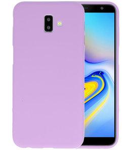 Color TPU Hoesje voor Samsung Galaxy J6 Plus Paars