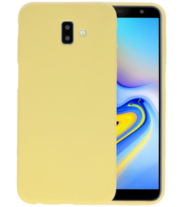 Color TPU Hoesje voor Samsung Galaxy J6 Plus Geel