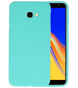 Color TPU Hoesje voor Samsung Galaxy J4 Plus Turquoise