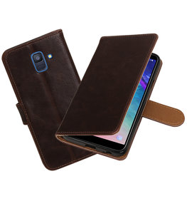 Hoesje voor Samsung Galaxy A6 2018 Pull-Up Booktype Mocca
