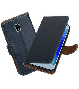 Hoesje voor Samsung Galaxy J3 (2018) Pull-Up Booktype Blauw