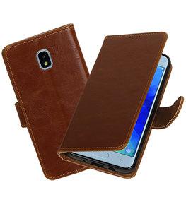 Hoesje voor Samsung Galaxy J3 (2018) Pull-Up Booktype Bruin