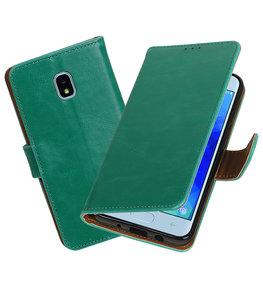 Hoesje voor Samsung Galaxy J3 (2018) Pull-Up Booktype Groen
