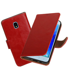 Hoesje voor Samsung Galaxy J3 (2018) Pull-Up Booktype Rood