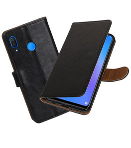 Hoesje voor Huawei P Smart Plus Pull-Up Booktype Zwart