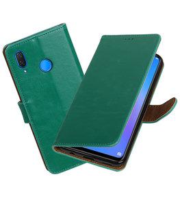 Hoesje voor Huawei P Smart Plus Pull-Up Booktype Groen