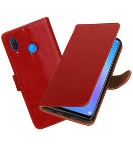 Hoesje voor Huawei P Smart Plus Pull-Up Booktype Rood