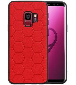 Hexagon Hard Case voor Samsung Galaxy S9 Rood