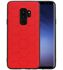 Hexagon Hard Case voor Samsung Galaxy S9 Plus Rood