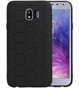 Hexagon Hard Case voor Samsung Galaxy J4 Zwart