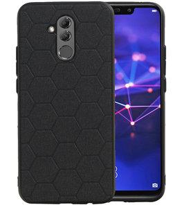Hexagon Hard Case voor Huawei Mate 20 Lite Zwart