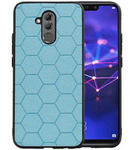 Hexagon Hard Case voor Huawei Mate 20 Lite Blauw