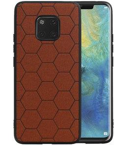 Hexagon Hard Case voor Huawei Mate 20 Pro Bruin