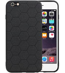 Hexagon Hard Case voor iPhone 6 Plus / 6s Plus Zwart