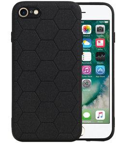 Hexagon Hard Case voor iPhone 8 / iPhone 7 Zwart
