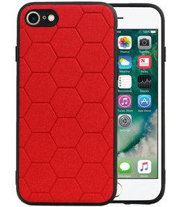 Hexagon Hard Case voor iPhone 8 / iPhone 7 Rood