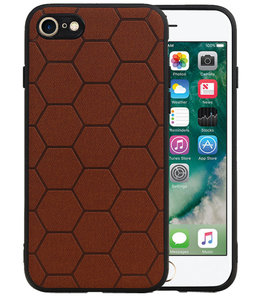 Hexagon Hard Case voor iPhone 8 / iPhone 7 Bruin