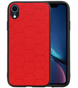 Hexagon Hard Case voor iPhone XR Rood