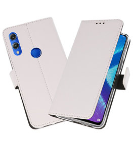 Wallet Cases Hoesje voor Huawei Honor 8X Wit