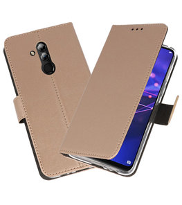 Wallet Cases Hoesje voor Huawei Mate 20 Lite Goud