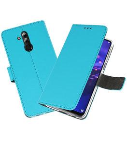 Wallet Cases Hoesje voor Huawei Mate 20 Lite Blauw