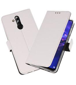 Wallet Cases Hoesje voor Huawei Mate 20 Lite Wit