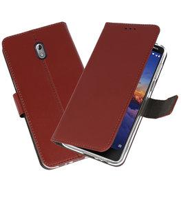 Wallet Cases Hoesje voor Nokia 3.1 Bruin