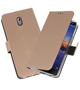 Wallet Cases Hoesje voor Nokia 3.1 Goud